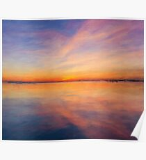 Abstract Sunset Landscape Poster