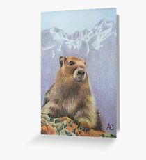 Olympic Marmot Greeting Card