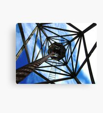 Abstract windmill Canvas Print