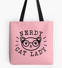 Nerdy Cat Lady Tote Bag