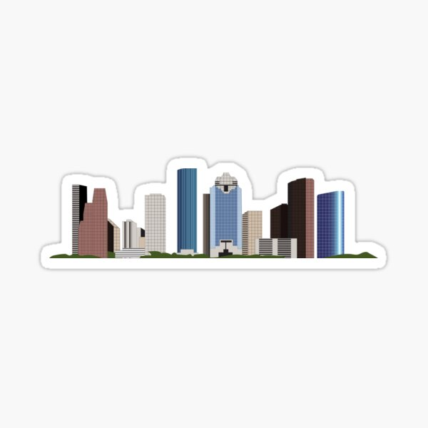 HTX Houston Downtown Skyline Sticker