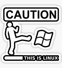 this is sparta linux Sticker