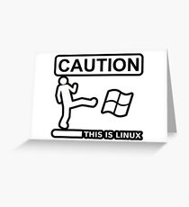 this is sparta linux Greeting Card