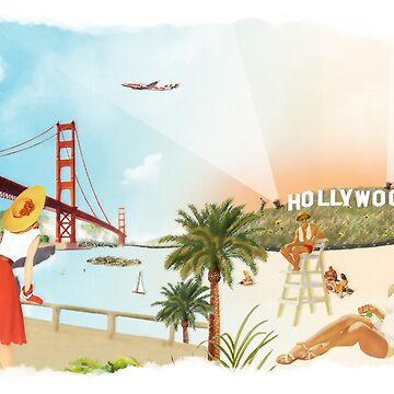 San Francisco + Los Angeles by heatherlandis