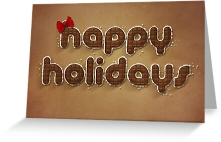 "Chocolate ""Happy Holidays"" Print by Kris Allen"
