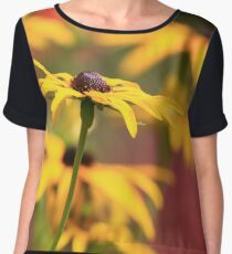 Depth of Field Flower Chiffon Top