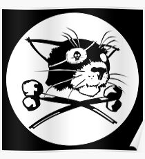 Pirate Cat Flag Poster