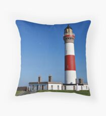 Buchan Ness Lighthouse Scotland Throw Pillow