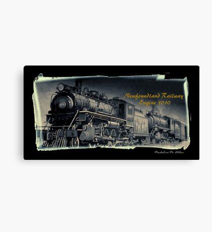 Newfoundland Railway Engine 1010 Canvas Print