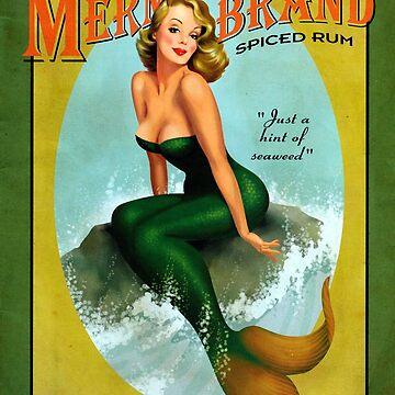 Mermaid of Jamaica by 5pennystudio