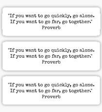 go together Sticker
