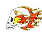 Flaming Skull by Andy  Housham