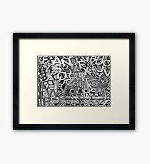 Alphabet Jumble  Framed Print