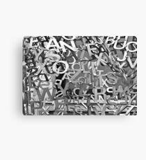Alphabet Jumble  Canvas Print