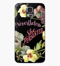 She Persisted (Floral Design) Case/Skin for Samsung Galaxy