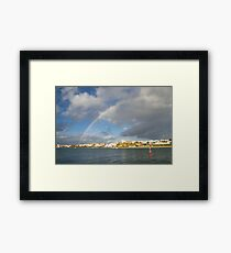 Of Whitewashed Villages and Rainbows Framed Print