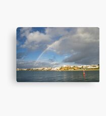 Of Whitewashed Villages and Rainbows Canvas Print