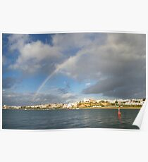 Of Whitewashed Villages and Rainbows Poster