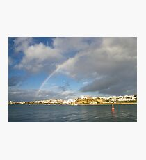 Of Whitewashed Villages and Rainbows Photographic Print