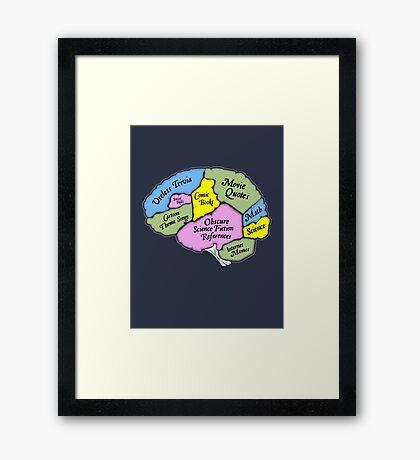 The Geek Brain Framed Print
