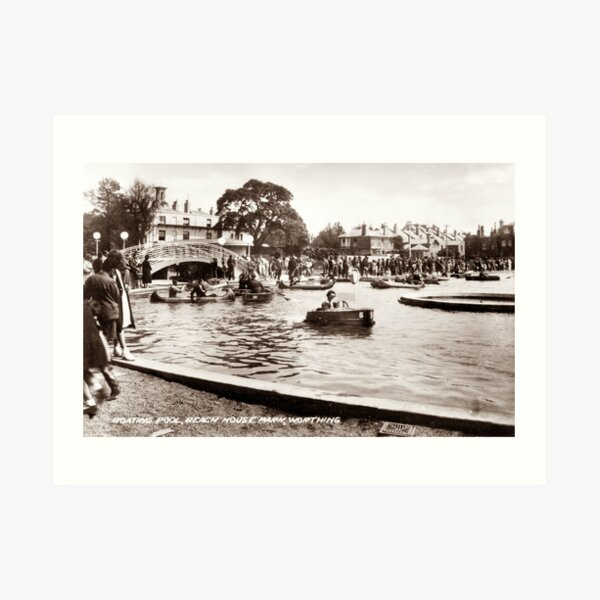 Ref: 61 - Beach House Park, Boating Lake, Worthing, West Sussex. Art Print