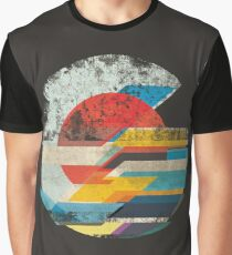 Digital Sun Horizon  Graphic T-Shirt