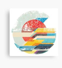 Digital Sun Horizon  Canvas Print