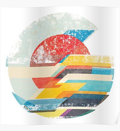 Digital Sun Horizon  Poster