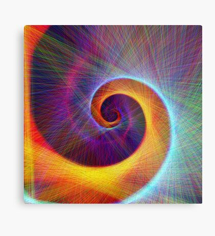 Fibonacci spiral, linify Metal Print