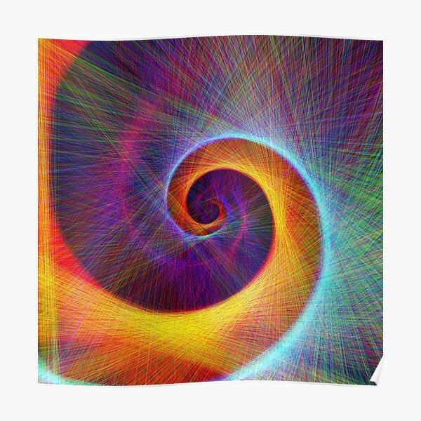 Fibonacci spiral, linify Poster