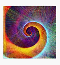 Fibonacci spiral, linify Photographic Print
