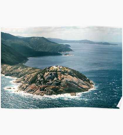 The lighthouse at Wilsons Promontory NP, Victoria, Australia. Poster