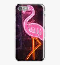 Neon Pink Flamingo iPhone Case/Skin