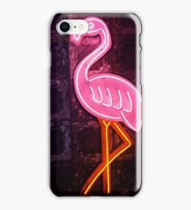 Neon Pink Flamingo iPhone Case/Skin