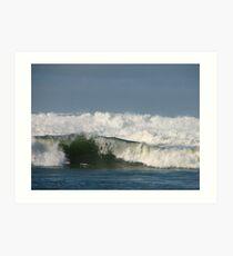 Breaking surf Art Print