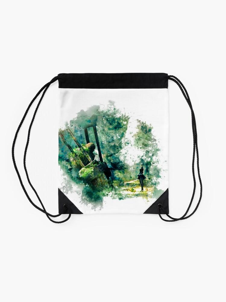 Alternate view of Nier Automata Painting Drawstring Bag