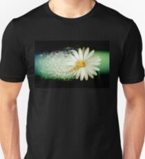 Exploding flower on Green and Black background Unisex T-Shirt