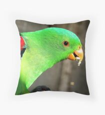 I am a true beauty! - Red Wing Parrot - NZ - Gore Throw Pillow