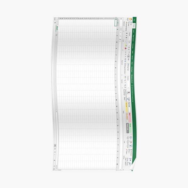 Excel Spreadsheet - Green Poster