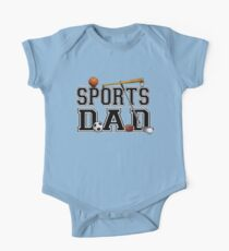 Fathers Day - Sports Dad Father  One Piece - Short Sleeve