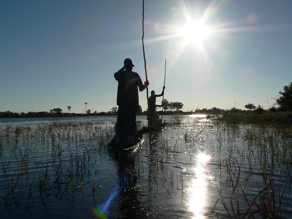 okavango at sunset by Brett Harris