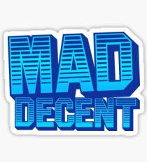 MAD DECENT BLUE Sticker