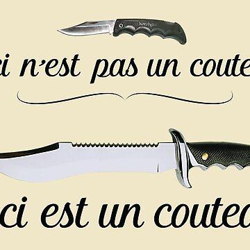 """""""Ceci n'est pas un couteau"""" – Magritte Design by JimmysBook"""
