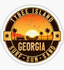 TYBEE ISLAND GEORGIA SURF SUN SAND BEACH OCEAN SURFING VACATION Sticker