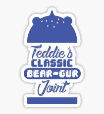 Teddie Beargur Joint Sticker