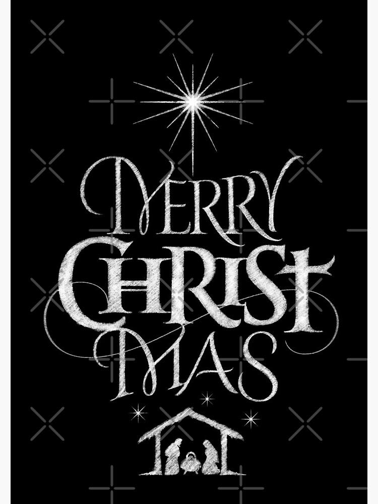 Frohe Weihnachten Jesus.Frohe Weihnachten Religiose Christliche Kalligraphie Christus Mas Tafel Jesus Geburt Spiralblock