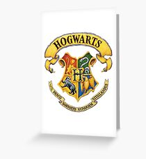 Harry Potter Hogwarts Logo Greeting Card
