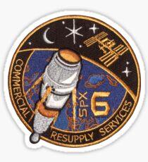 CRS-6 NASA Logo Sticker