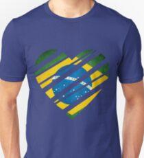 Brazil Heart Unisex T-Shirt