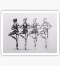 Dancing Figures Sticker